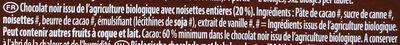 Bio Noisettes Noir - Ingrédients - fr