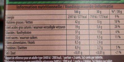 Bio Noisettes Noir - Informations nutritionnelles - fr