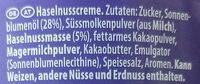 Milka Haselnusscreme - المكونات - de