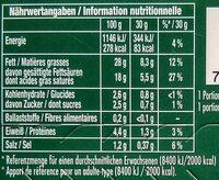 Intense Gourmet Kräuter - Nährwertangaben - de
