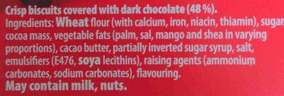 Bournville Fingers - Ingredients - en