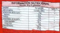 Variedad - Informations nutritionnelles - es