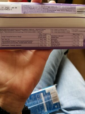 Milka - Nutrition facts - en