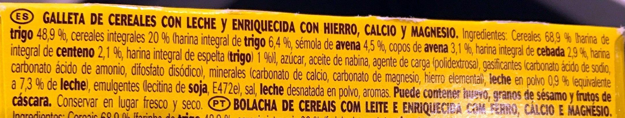 Belvita Desayuno Leche y Cereales - Ingredientes - es