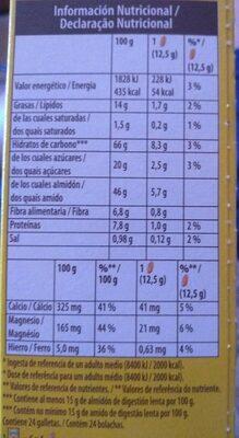 Belvita Desayuno Leche y Cereales - Informação nutricional - es