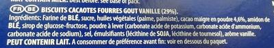 Oreo cookies vanilla - Ingrediënten