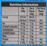 Green & black's organic chocolate bar milk chocolate with sea salt - Nutrition facts - en