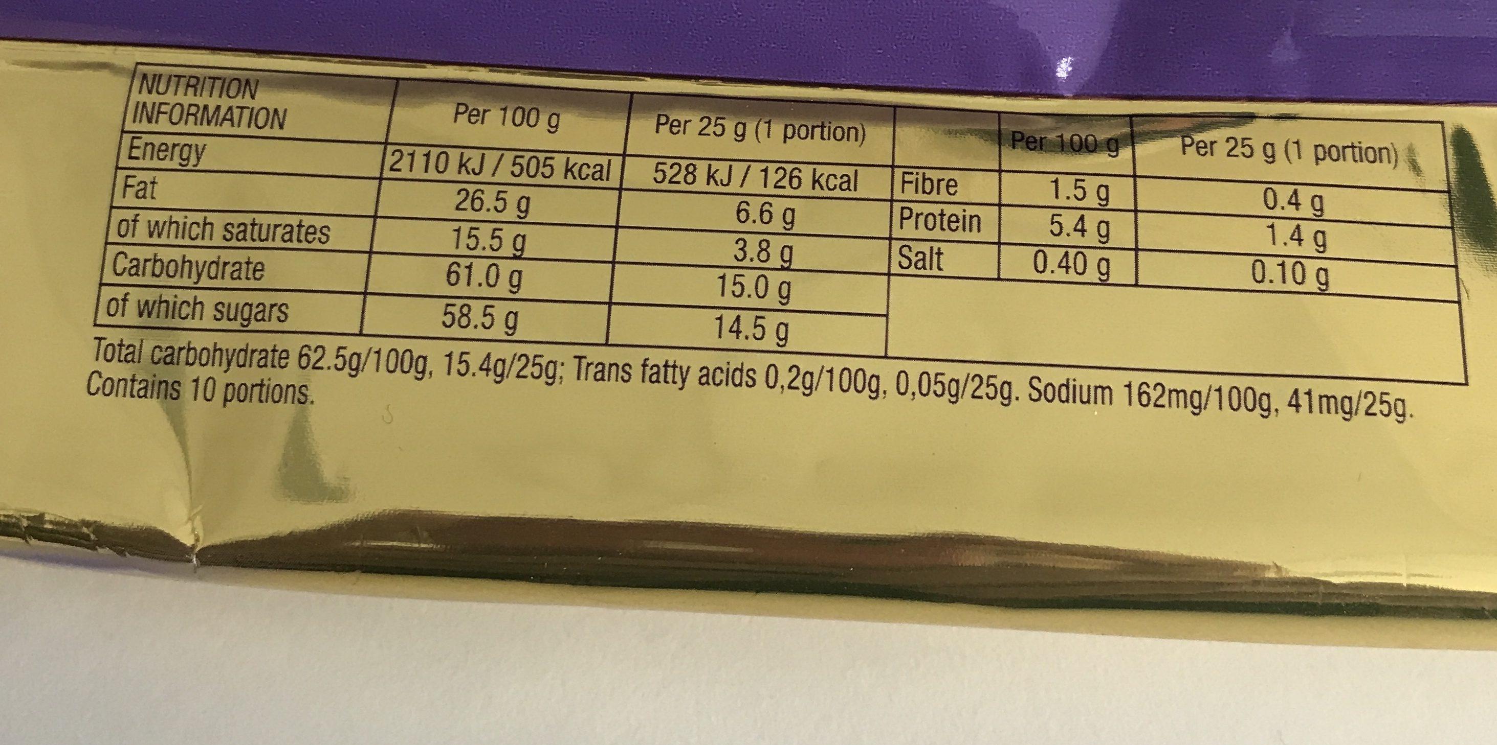 Milka Luflee Caramel - Ingredients - fr