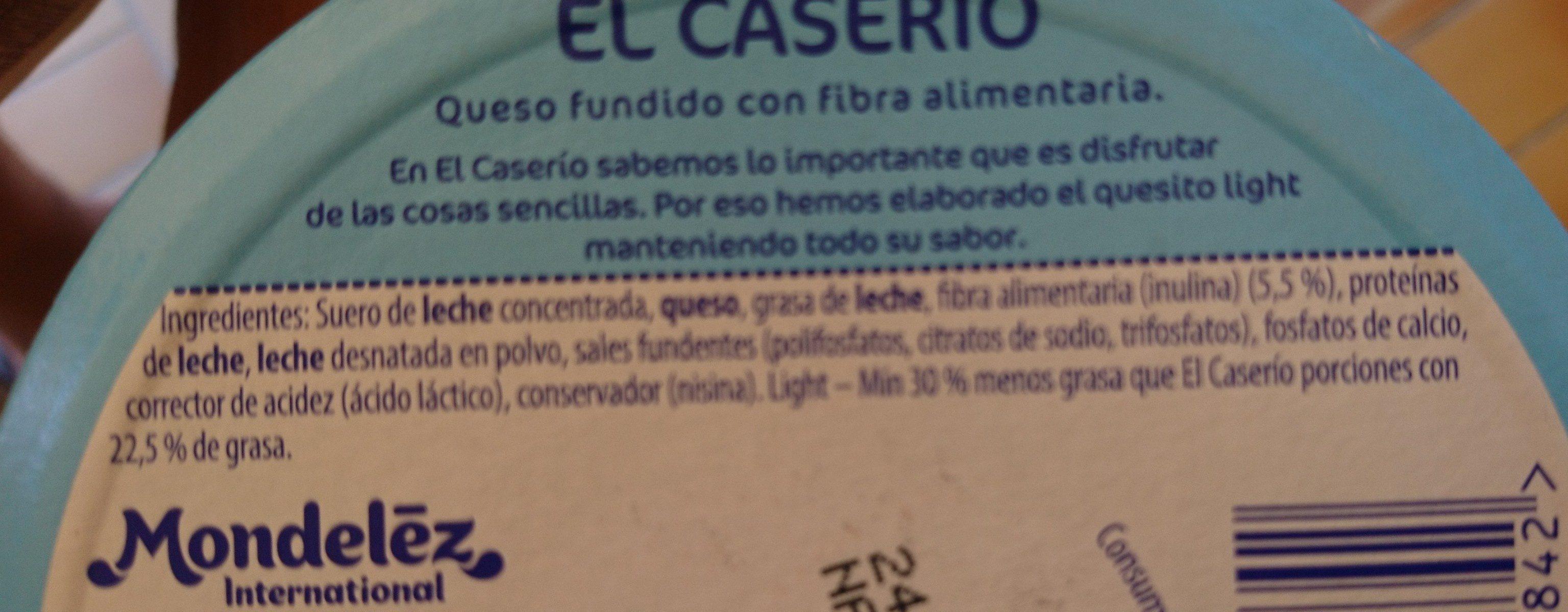 El caserio light - Ingredientes - es