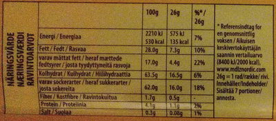 Marabou Black saltlakrits - Nutrition facts