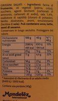 Tuc Stick Grissini Portabili E Gustosi 40g - Informazioni nutrizionali