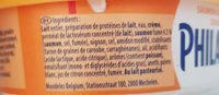 Philadelphia Light Saumon & Aneth (10% MG) - Ingrédients