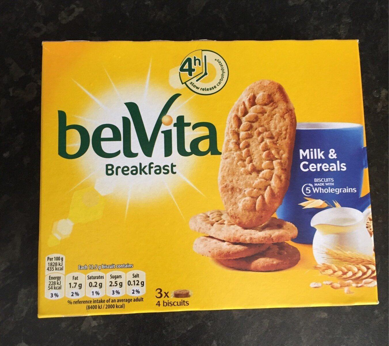 Belvita biscuits-breakfast cereals and milk - Product - en