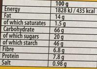 Belvita biscuits-breakfast cereals and milk - Nutrition facts - en