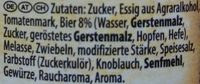 Dark Beer BBQ Sauce Dunkelbier - Inhaltsstoffe