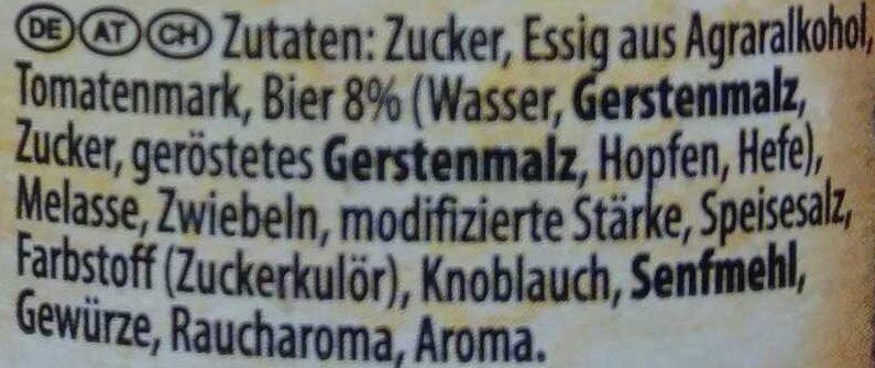 Dark Beer BBQ Sauce Dunkelbier - Ingredients