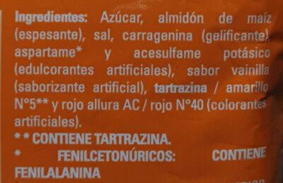 Pudin sabor a Vainilla - Ingrediënten - es