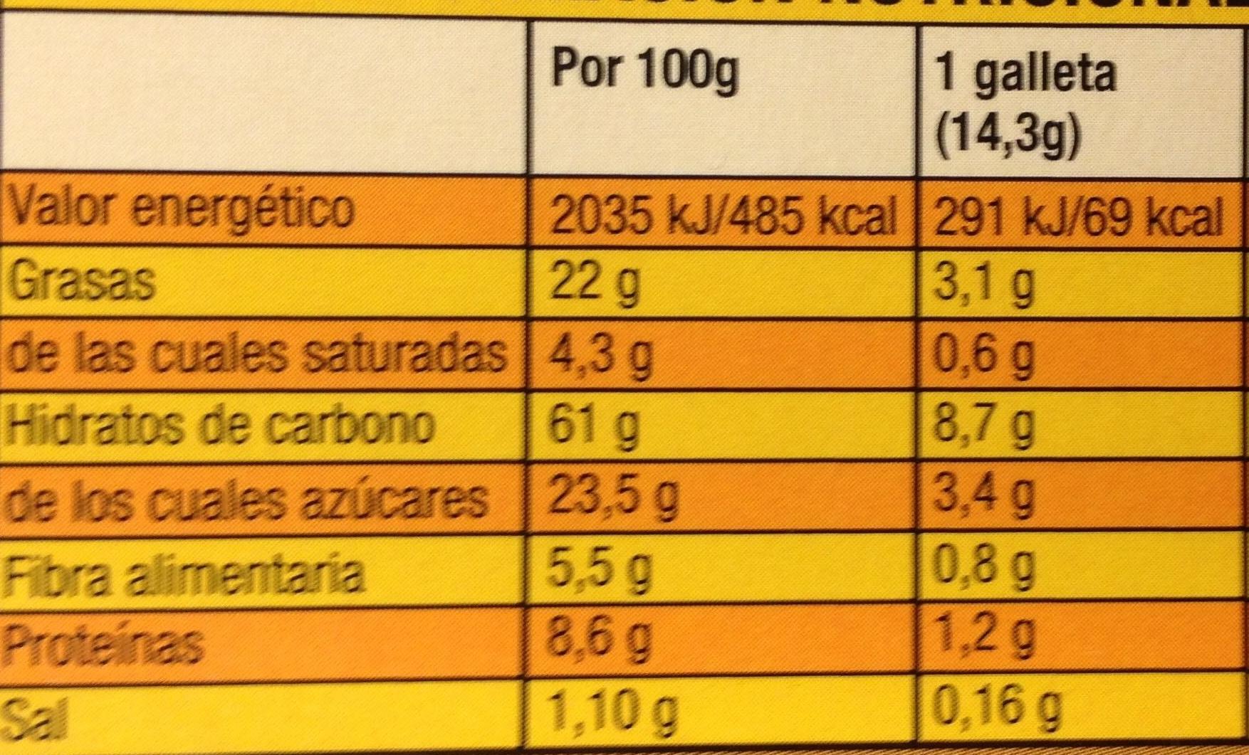 Digestive Go! - Voedingswaarden - fr