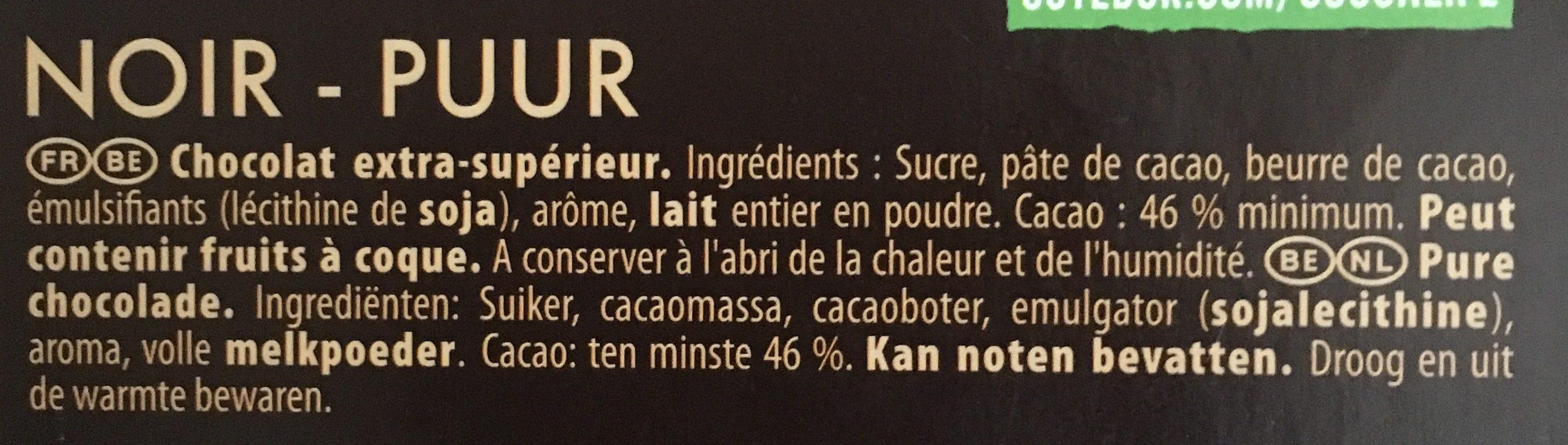 L'original noir - Ingrediënten - fr