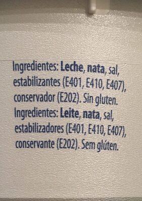 Cream cheese - Ingrediënten