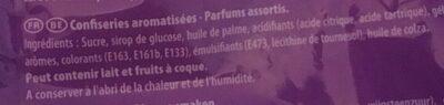 Carambar atomic - Ingrediënten