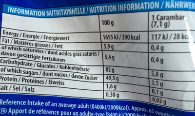 Carambar candy fruit - Nutrition facts