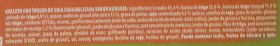 Galletas Digestive Soja y Naranja - Ingredientes