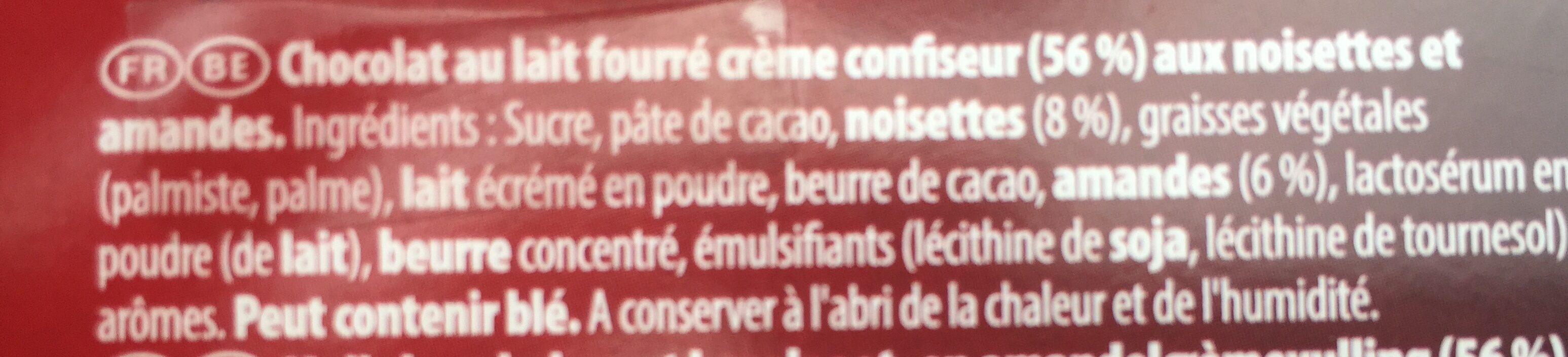 Bouchées Lait 8-pack - Ingrediënten