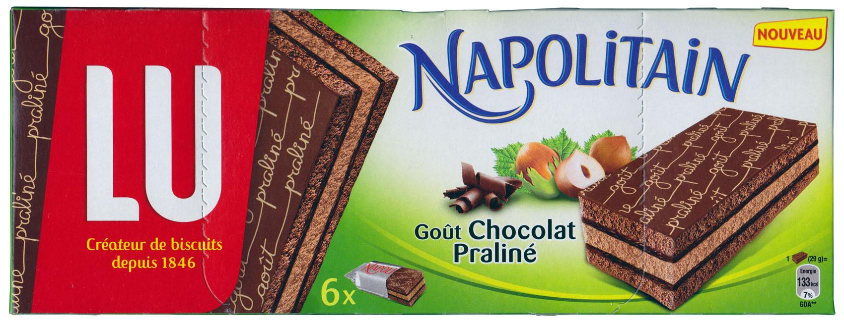 Napolitain Goût Chocolat Praliné - Produit - fr