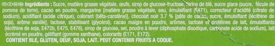 Napolitain Goût Chocolat Praliné - Ingrédients - fr