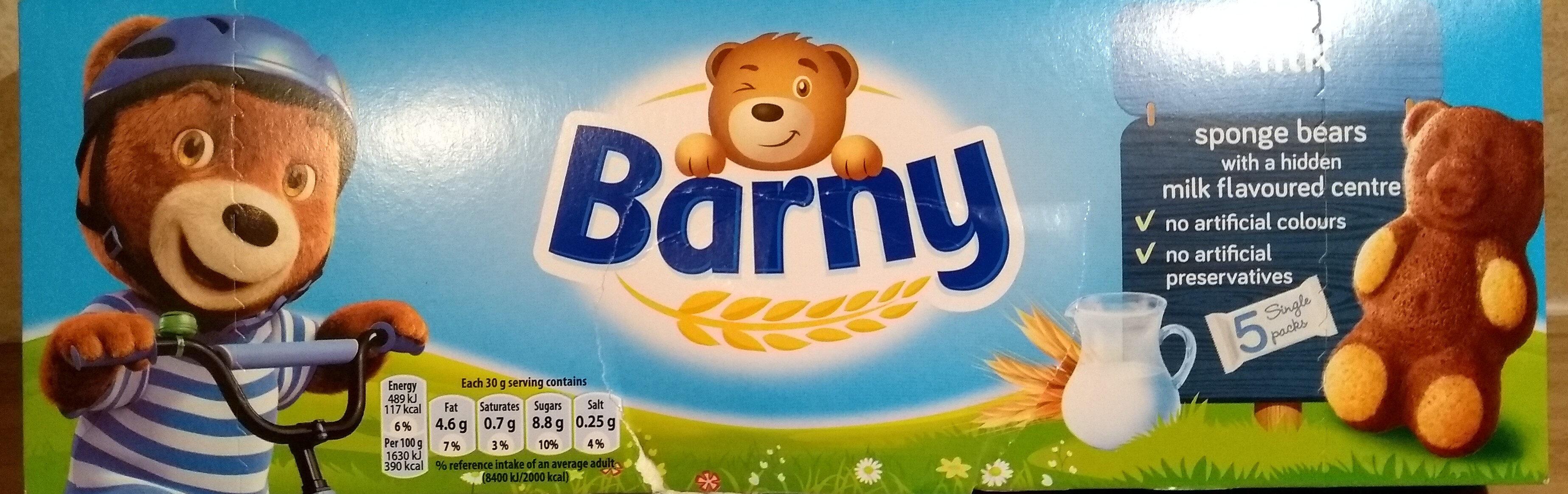 Barny biscuits-sponge milk filling - Produit - fr