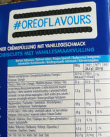 Double Oreo - Nutrition facts