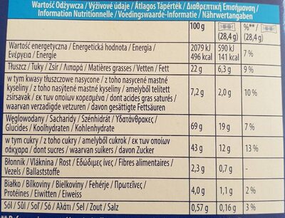 Double Oreo - Informations nutritionnelles - fr