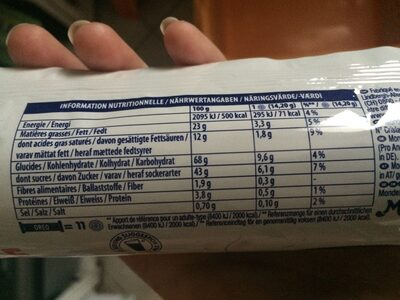 Oreo Double Cream - Nutrition facts