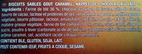 Granola goût caramel - Ingredients