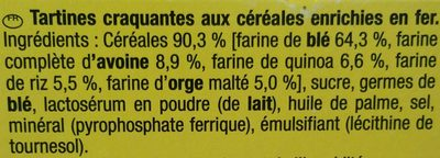 Cracottes Multi-Céréales - Ingrediënten - fr