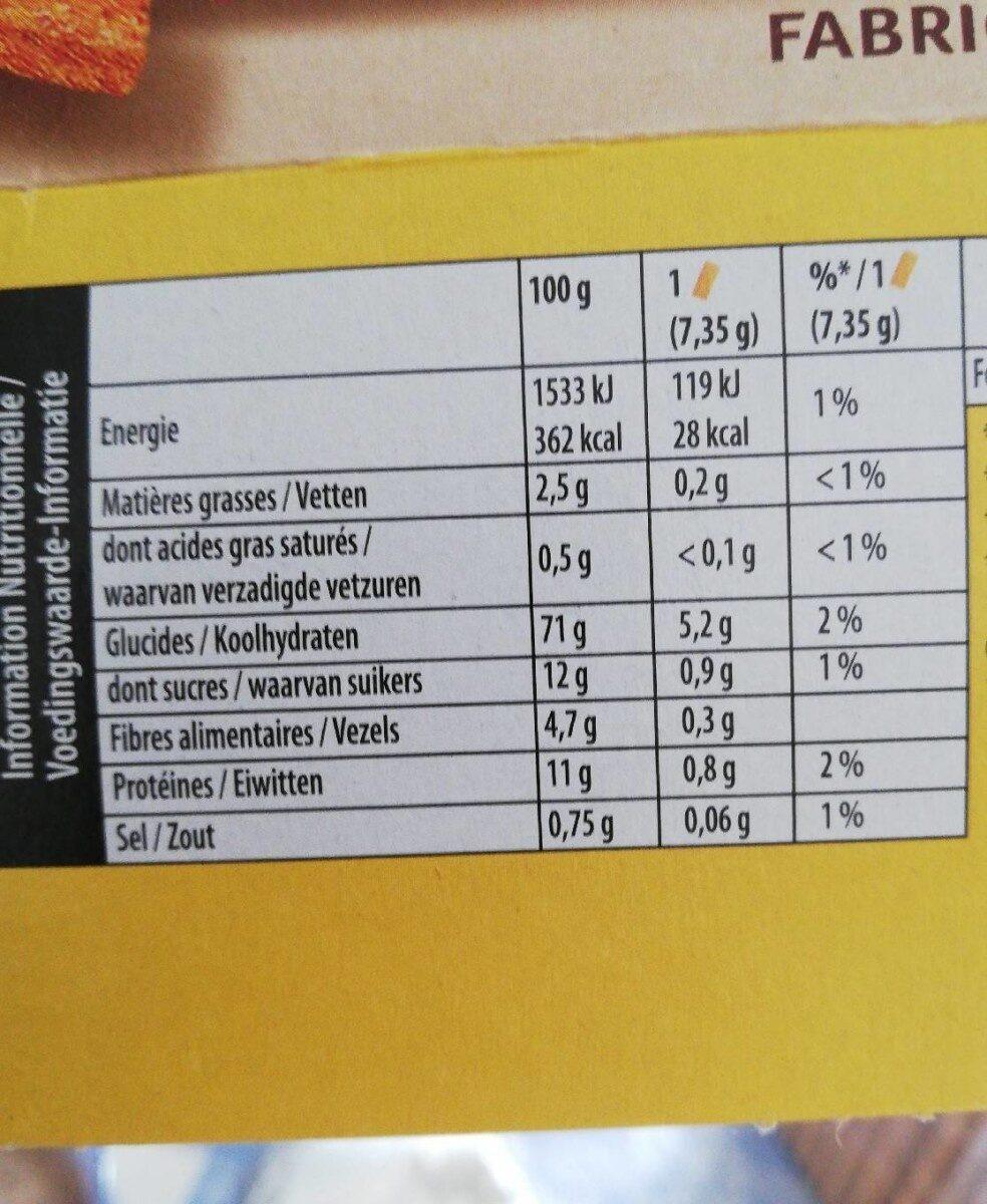 Cracottes Multi-Céréales - Voedingswaarden - fr