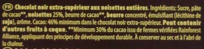 Noir Noisettes - Ingrédients - fr