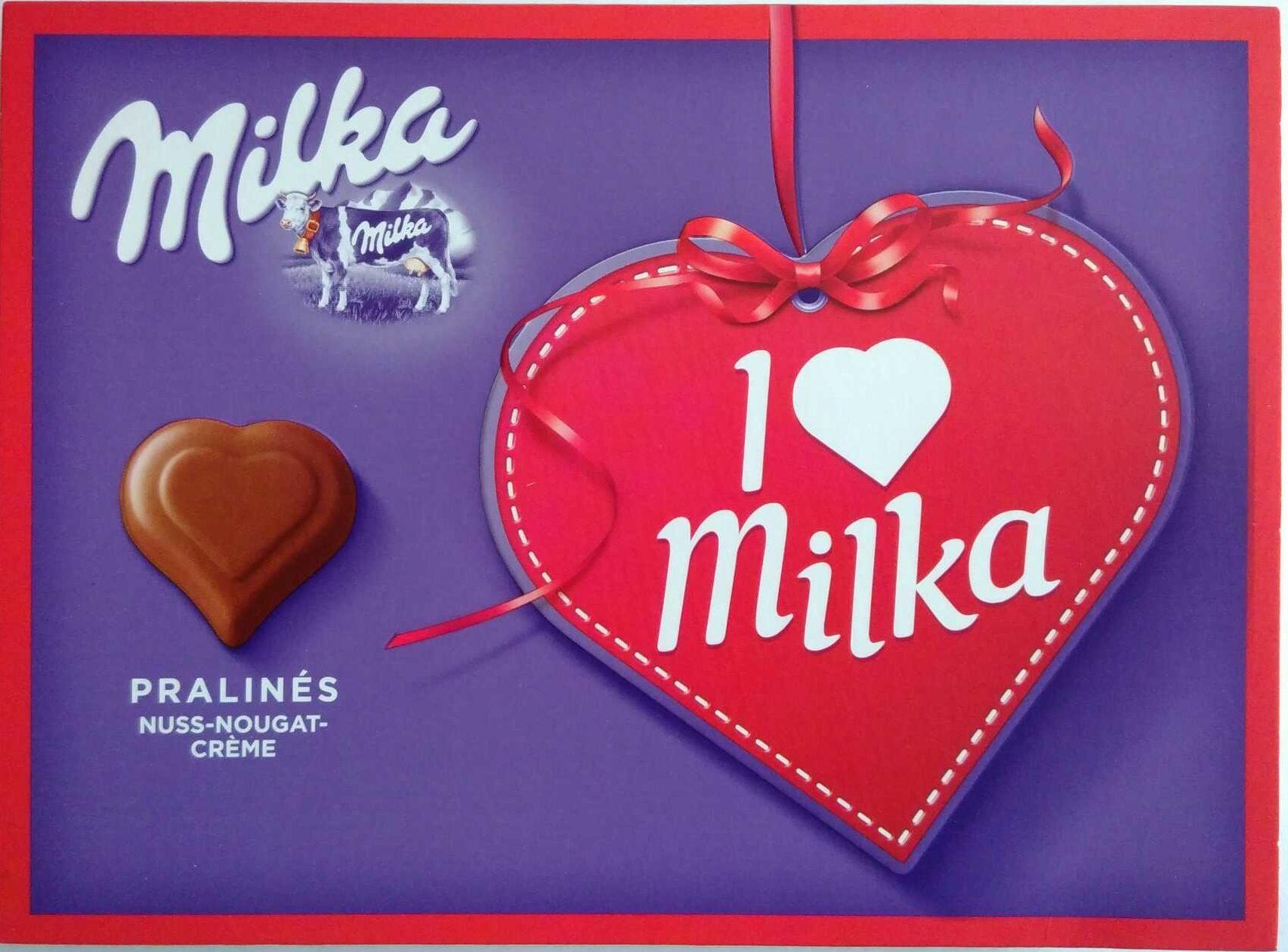 I love Milka Pralinès Nuss-Nougat-Crème - Product - de