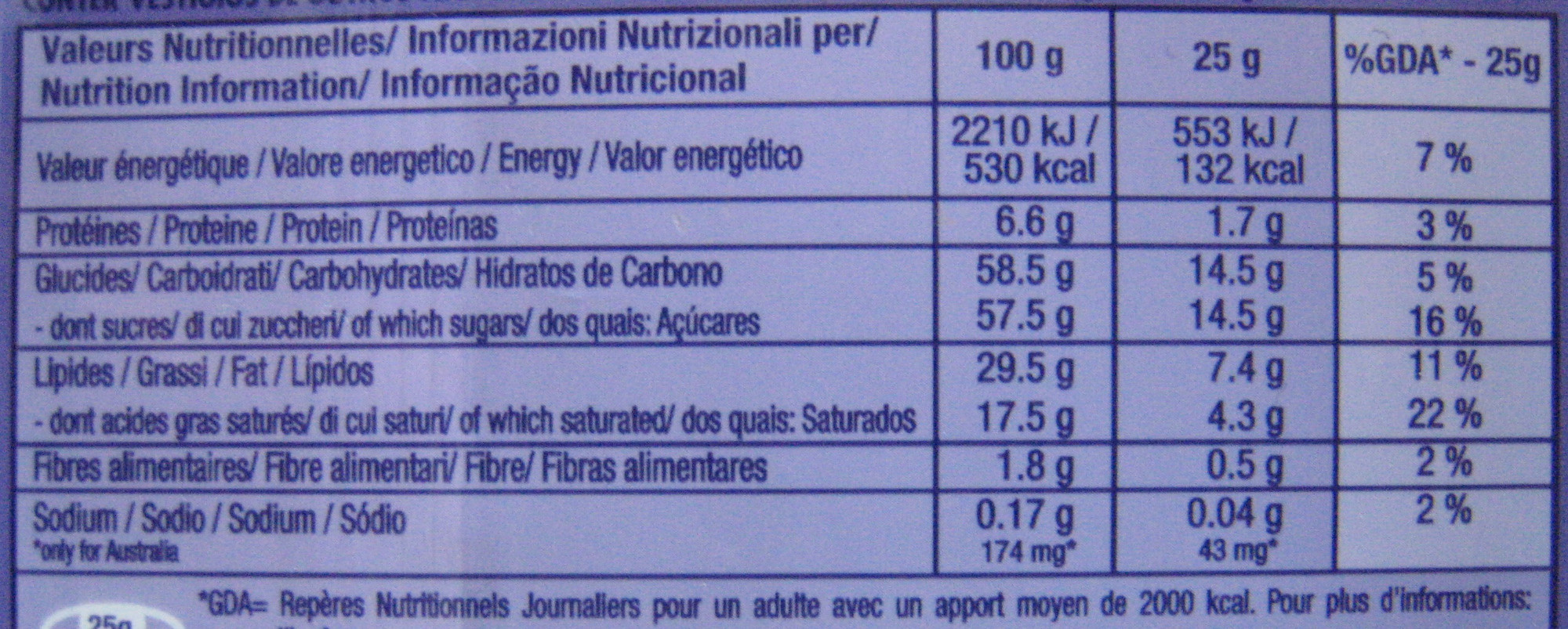 Chocolat au lait...100 X 200 Lot