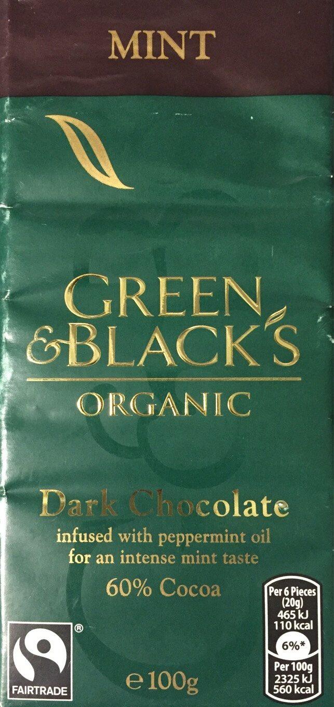 Dark chocolate Mint 60% - Product - en