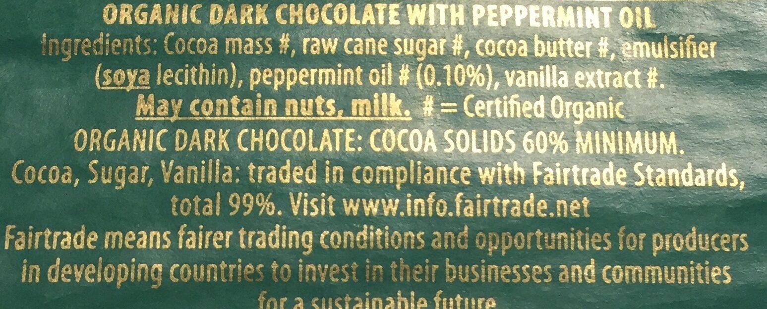 Dark chocolate Mint 60% - Ingredients - en