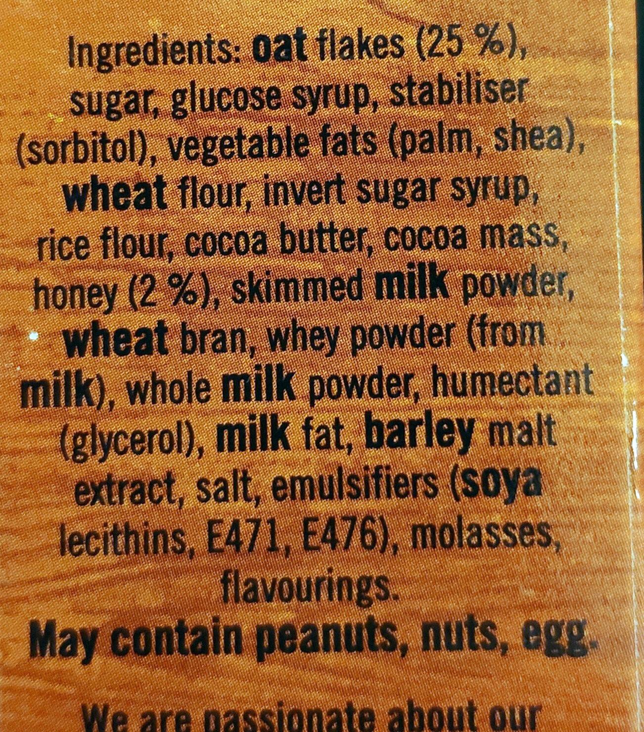 Brunch Bar Choc Chip - Ingredienti - en