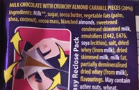 Cadbury dairy milk chocolate daim - Ingredients - en