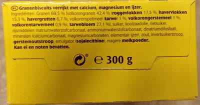 Liga belVita Breakfast - Ingrediënten - nl