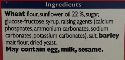 Ritz crackers original - Ingredients - en