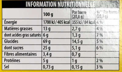 Grany Caramel Beurre Salé - Informations nutritionnelles - fr