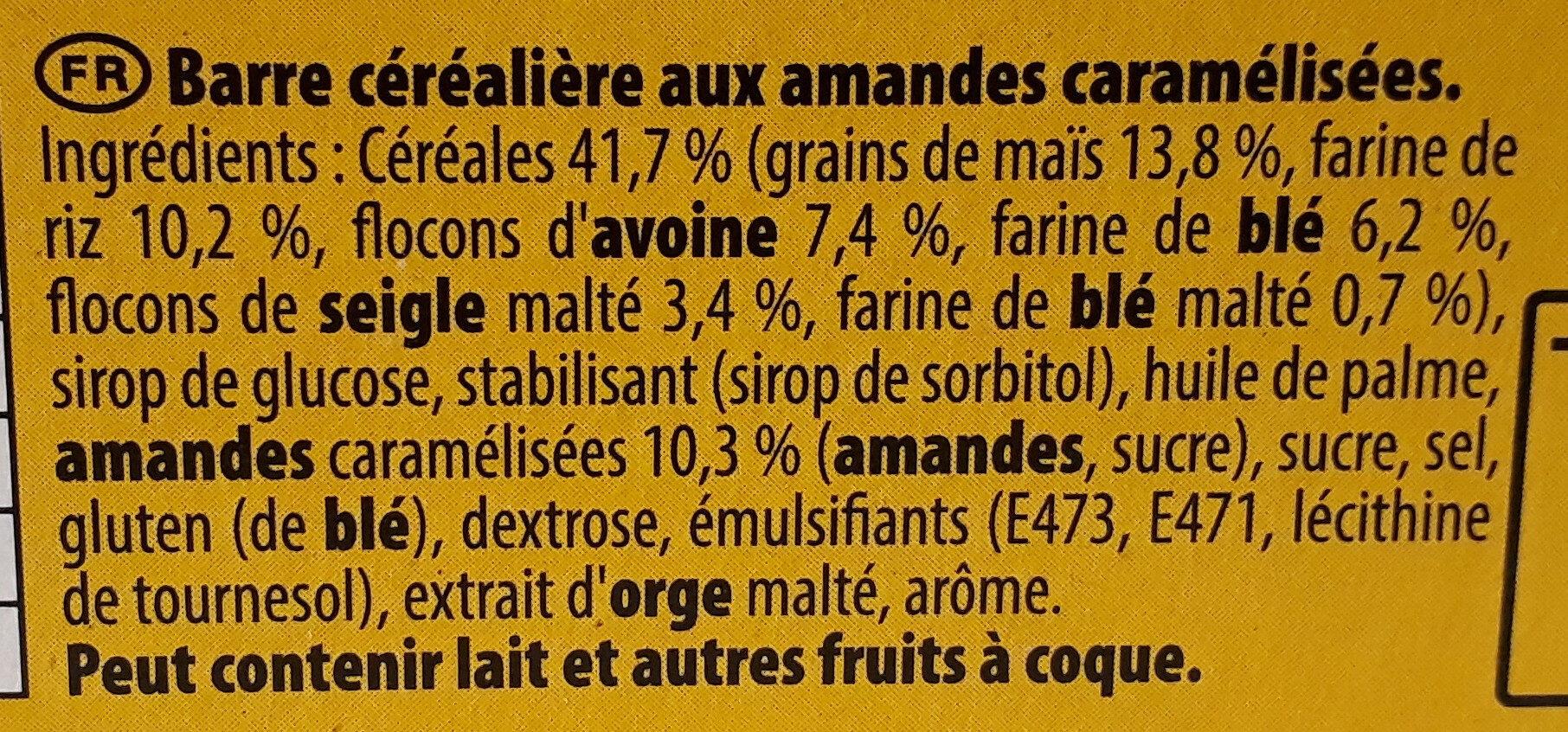 Grany Amandes Caramélisées 5 céréales - Ingrédients - fr