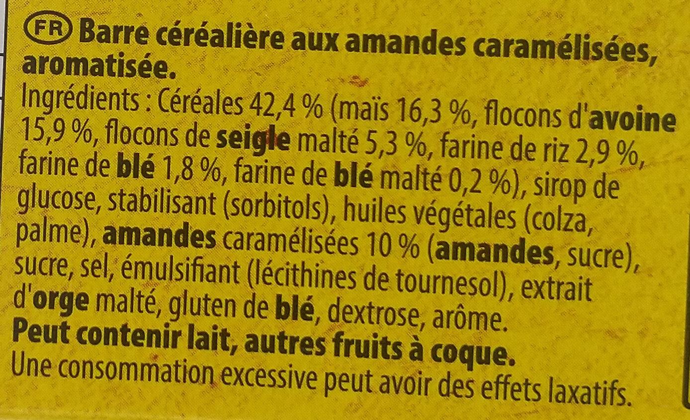 Grany Amandes Caramélisées 5 céréales - Ingredienti - fr