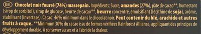 Fusion Pâte d'Amande Noir - Ingredients - fr